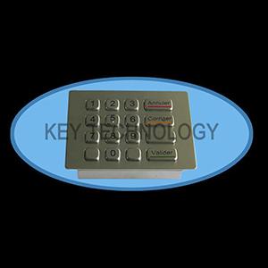 کیبورد فلزی پین پد متال IP65 با 16 کلید